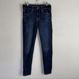 AEO jeggings dark wash skinny jeans